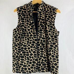 Elliott Lauren Jackets & Coats - Elliott Lauren Vest Cheetah Print Zip Up